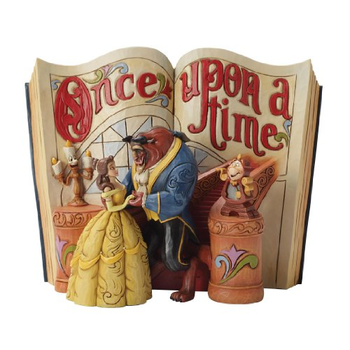 Disney Tradition 4031483 Once Upon a Time La Belle & La Bestia Resina, Design di Jim Shore, 18 cm