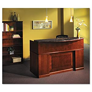 Mayline Products - Mayline - Sorrento Series Reception Desk Screen With Marble Counter, 72w x 39d x 15-1/2h - Sold As 1 Each - A transitional line of furniture ideal for the executive office. - AA-grade North American hardwood veneer. - Mounts with ease.