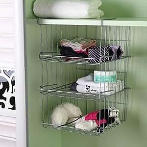 1set bathroom hanging baske clothes storager