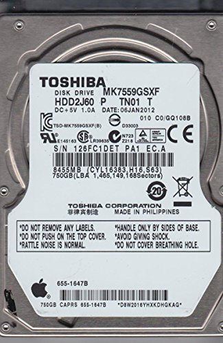 MK7559GSXF, C0/GQ108B, HDD2J60 P TN01 T, Toshiba 750GB SATA 2.5 Hard Drive (Toshiba Serial Number compare prices)