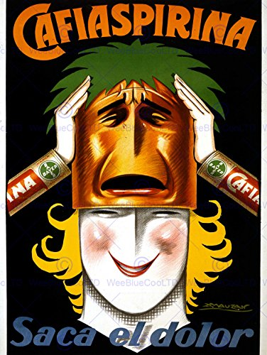 advert-medicine-aspirin-bayer-argentina-woman-mask-smile-poster-affiche-30x40-cm-12x16-in-print-abb6