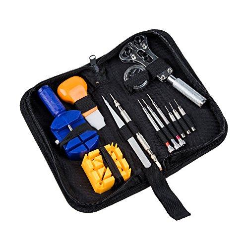 meco 13pcs outil kit r paration entretien gousset cl ouvre bo tier montre horloger. Black Bedroom Furniture Sets. Home Design Ideas