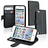 eForCity Leather Wallet Case with Card Holder for iPod touch 5G, Black Reviews