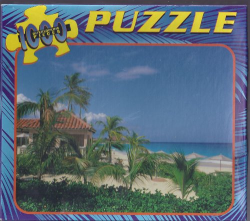 1000 Interlocking Pieces Puzzle By Greenbrier International; Beach, Palm, & Hut