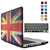 iBenzer - 2 in 1 Multi colors Soft-Touch Plastic Hard Case Cover & Keyboard Cover for Macbook Pro 13, UK FLAG MMP13UKFL+1