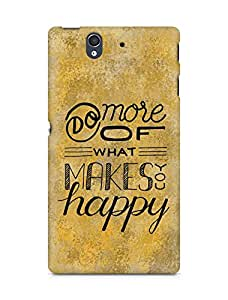AMEZ do more of what makes you happy Back Cover For Sony Xperia Z