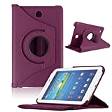 Bocideal New Case For Samsung Galaxy Tab4 7Inch Tablet, T230 Rotating 360 Case Cover (ï¼Purpleï¼)