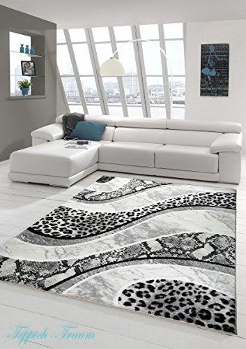 Tappeto di pelo di leopardo 200 cm x 120 cm tappetino for Tappeto nero moderno
