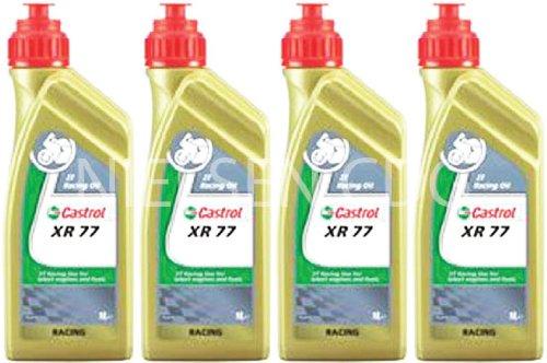 Castrol Racing XR77 2T Engine Oil CAS-2040-7176-4 - 4x1L = 4 Litre