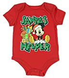 Disney Mickey Mouse SANTA'S Little HELPER Christmas Baby Boys Bodysuit