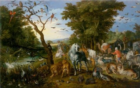 Perfect Effect Canvas ,the Vivid Art Decorative Canvas Prints Of Oil Painting 'The Entry Of The Animals Into Noah's Ark, 1613 By Jan Brueghel The Elder', 10x16 Inch / 25x40 Cm Is Best For Wall Art Artwork And Home Gallery Art And Gifts