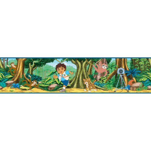 Blue Mountain Wallcoverings NS026444 Go Diego Go Self-Stick Wall Border - 1