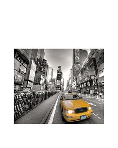 LegendArte Panel Decorativo Sobre Lona Taxi Nella Grande Città 50X60