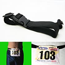 NEW BLACK RACE NUMBER BELT TRIATHLON MARATHON RUNNING !