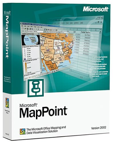 Microsoft Mappoint 2002--EUROPEAN Maps