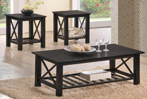 Amazing 3 Piece Contemporary Hardwood Occasional Coffee Table Set By Customarchery Wood Chair Design Ideas Customarcherynet