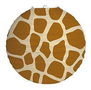 "Creative Converting 12"" Round Hanging Paper Lantern, Giraffe Animal Print"