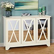 Simple Living Reflections Antique White Buffet/ Console