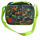 Ninja Turtle Tmnt Rectangle Field Trip School Lunch Bag with Green Strap New
