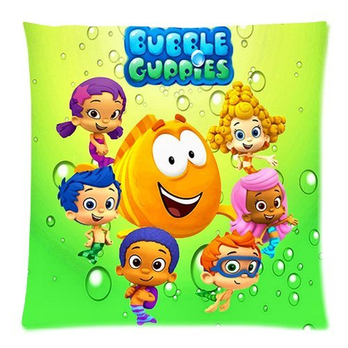 Personalized Home Bedding Pillowcase Hot Cartoon Bubble Guppies Cute Molly Gil Bubble Puppy One Side Rectangle Pillowcases Standard Size 18X18-5 front-769356