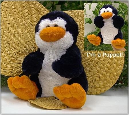 "Wishpets 9"" Penguin Super Soft Hand Puppet - 1"
