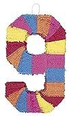 Multicolor Number 9 Pinata