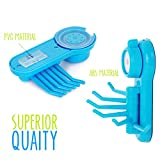 Eco Suction Cup Hook | Most Attractive Wall Mounted Hook with 6 Pylons Octopus Design | Premium ABS and PVC Material with Maximum Load 11 Pound | Quick Installation | Fresh Blue | 812