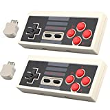 EEEKit 2-pack 2.4G Wireless Controller for Nintendo NES Mini Classic Console, No-wired Controller Gamepad Joypad Joystick w/ 2.4G Wireless Receiver for NES Classic Mini Edition Gaming System