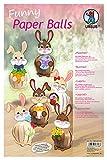 Ursus 24040099 - divertidas bolas de papel: Conjunto de tiras de papel de colores y accesorios, para crear 12 liebres
