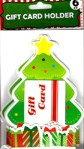 CHRISTMAS TREE GIFT CARD HOLDER (1 PACK - 6 CARD HOLDERS)