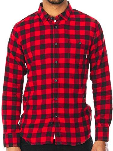Camicia A Maniche Lunghe Element Jedway Flannel Rosso (L , Rosso)