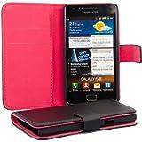 kwmobile� KUNSTLEDERH�LLE Flip Case f�r Samsung Galaxy S2 i9100 / S2 PLUS i9105 in Schwarz Rot mit EC Visitenkarten Fach