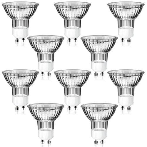 10er-Pack-GU10-Halogen-Strahler-in-MR16-Bauform-warm-wei-230-Volt-AC-35-Watt-Lampe-Leuchtmittel-Haushaltspack-230V-35W
