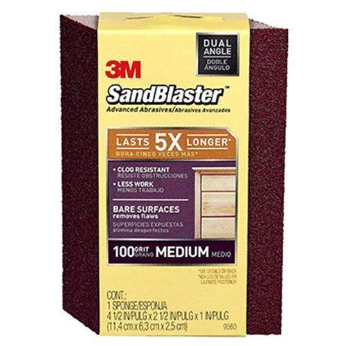 3M SandBlaster Dual Angle Sanding Sponge, 100-Grit (Detail Sanding Block compare prices)
