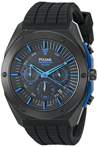 Pulsar Chronograph Silicone - Black Men's watch #PT3519