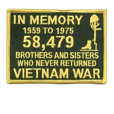 In Memory of The 58479 Vietnam GOLD Veteran Biker Patch