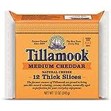 Tillamook, Medium Cheddar Cheese, Sliced, 12 oz