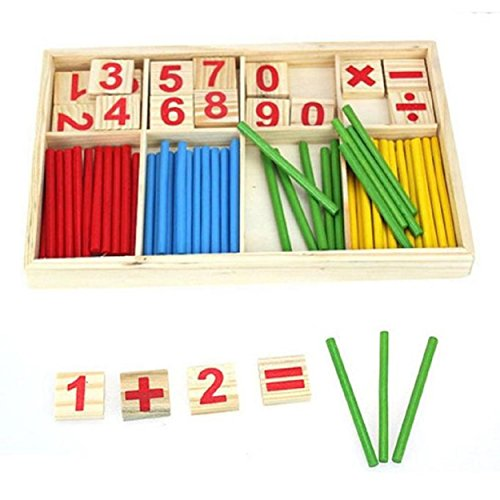 Kingfansion-Kids-Child-Wooden-Numbers-Mathematics-Early-Learning-Counting-Educational-Toy