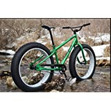 Men's Fat Bike 26 Inch Mountain Bike Off-Road Bicycle GREEN