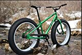 Men's Fat Bike 26 Inch Mountain Bike Off-Road Bicycle GREEN