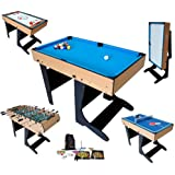 Billard Table Multi Jeux 21 en 1 Pliable - Riley