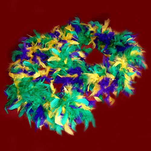 Cheap New Orleans Mardi Gras Yellow Green Purple Feather