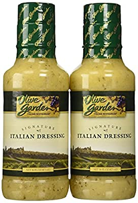Olive Garden Signature Italian Dressing (Pack of 2) 16 oz Size from T. Marzetti Company