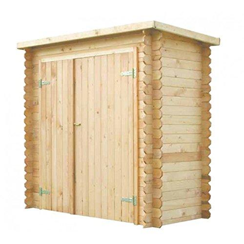 Armadione in legno pircher modello blockhaus cm 190 x 95 x - Portabici in legno ...