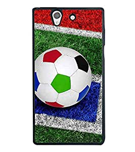 Colourful Football 2D Hard Polycarbonate Designer Back Case Cover for Sony Xperia Z :: Sony Xperia C6603 :: Sony Xperia C6602 :: Sony Xperia Z LTE, Sony Xperia Z HSPA+