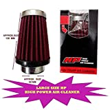 LARGE SIZE HP HIGH POWER COTTON TYPE AIR FILTER FOR ALL BIKES 42MM.