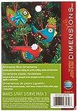 Dimensions Needlecrafts Felt Applique, Whimsical Birds Ornaments - Set of 3