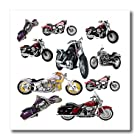 3dRose LLC Iron on Heat Transfer Picturing Harley-Davidson Motorcycles