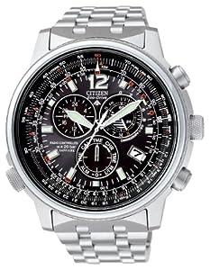 Citizen AS4020-52E - Reloj cronógrafo de cuarzo para hombre, correa de acero inoxidable multicolor