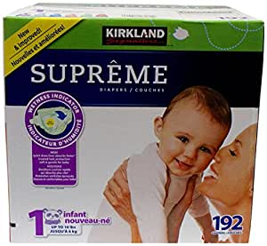 kirkland diapers size 1 192 count health personal care. Black Bedroom Furniture Sets. Home Design Ideas